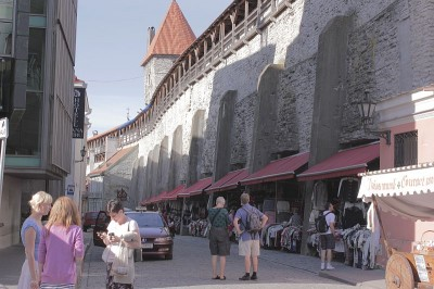 Street in Old Town Tallinn, Estonia