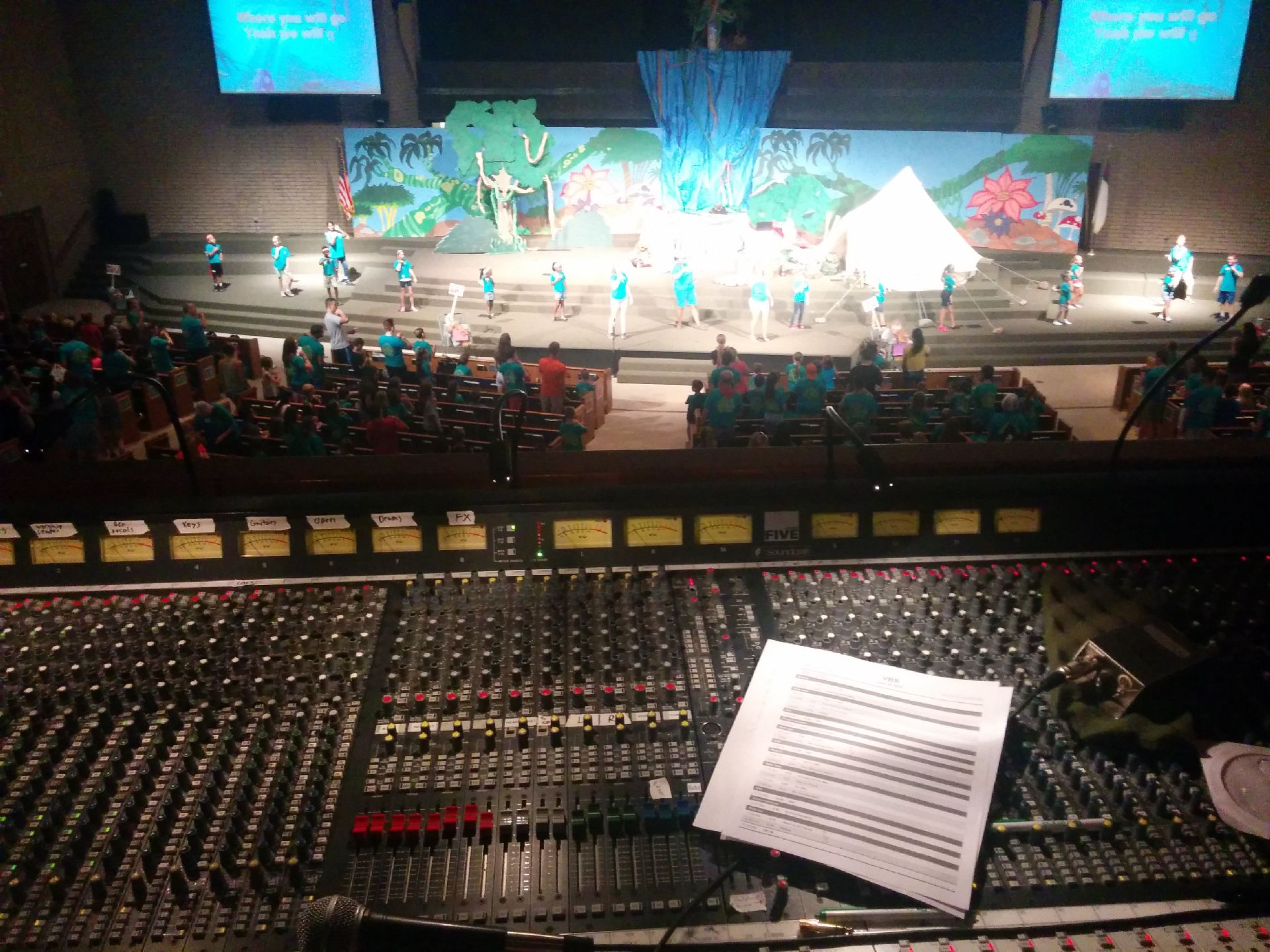 VBS view from sound board June 25 2015