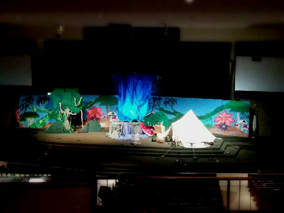 Vacation Bible School stage set